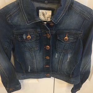 Girl's (12) Justice Denim Jacket